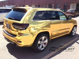 jeep cherokee yellow gold chrome jeep grand cherokee srt 8 vehicle customization shop