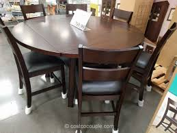 square to round dining table bayside furnishings bayside furnishings 7pc square to round dining
