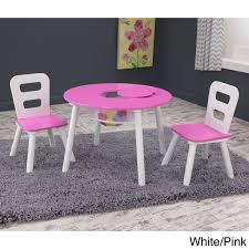 kidkraft round table and 2 chair set kidkraft 3 piece round table and chair set free shipping today