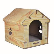 wood grain cat cardboard house with scratching mat cardboard cat