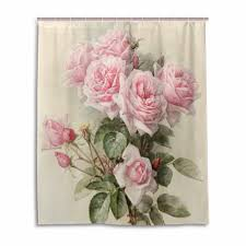 Shabby Chic Shower Curtain Hooks by Online Get Cheap Pink Roses Shower Curtain Aliexpress Com