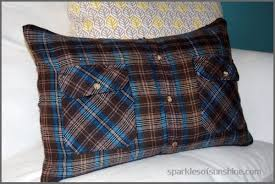 How To Make Sofa Pillow Covers How To Make A Flannel Shirt Pillow In 5 Easy Steps