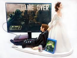 xbox cake topper fallout wedding cake topper gamer and groom