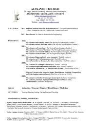 great 3d animator resume format contemporary resume ideas