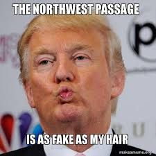 North West Meme - the northwest passage is as fake as my hair donald trump kissing