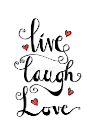 live laugh love live laugh love card stock vector illustration of greeting