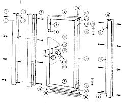 Shower Door Part Sears Sears Hinged Shower Door Parts Model 392684912 Sears