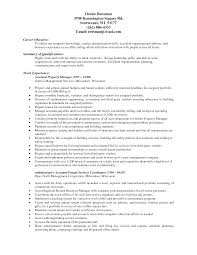 Resume Objective Examples Hospitality by Resume Property Management Resume Examples