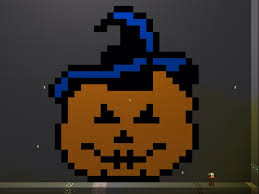 jack o bonnie five nights at freddy s 4 halloween pixel art