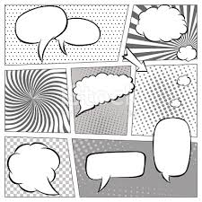 comic book page template with halftone effect and speech bubbles