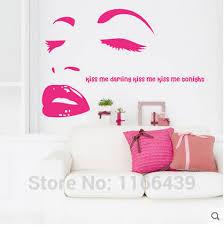 baise dans la chambre baiser me romantique chambre chevet toile de fond stickers muraux