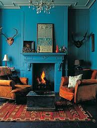blue and orange room potholes pantyhose living room dining room redo