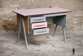 bureau enfant gris bureau vintage 3 tiroirs et gris pieds compas