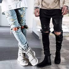 Mens Destroyed Skinny Jeans Men U0027s Jeans Wholesale Fashion Slim Fit Jeans On Dhgate