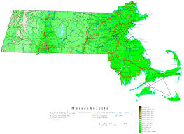 Ma Map Massachusetts Contour Map