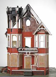the fire at the doll house front view u003e assemblages u003e projects