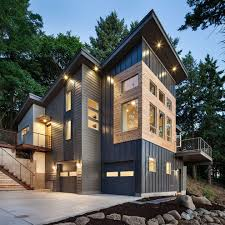 vinyl or aluminum siding exterior modern with metal siding