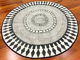 White Round Rug by Round Rug 120 Cm Marrakech Round Black Grey White