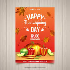 happy thanksgiving day vintage poster vector free