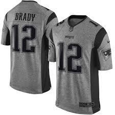design gridiron jersey men s new england patriots tom brady nike gray gridiron gray limited