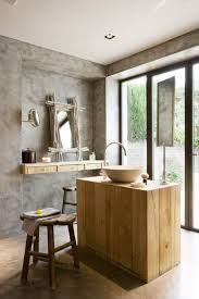 bathroom natural rustic bathroom with rectangle surround