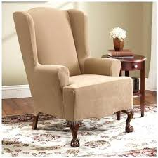 sure fit slipcovers wing chair sure fit slipcovers wing chair sure stretch wing chair slipcover