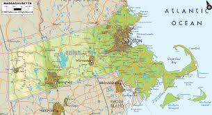 Western Massachusetts Map by Physical Map Of Massachusetts Ezilon Maps