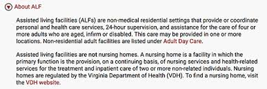 Virginia Department For The Blind And Vision Impaired Virginia U0027s Assisted Living Rules And Regulations