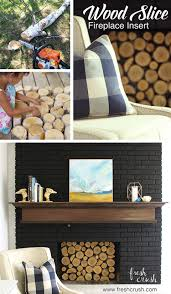 hearth and wood slice fireplace insert fresh crush