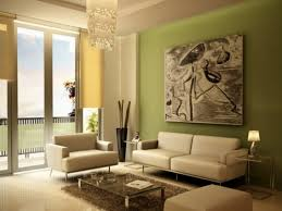 lovely living room with fresh lime green wall paint color combined