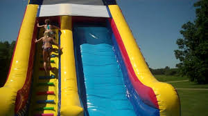 inflatable water slide fun jump for joy bounce houses youtube