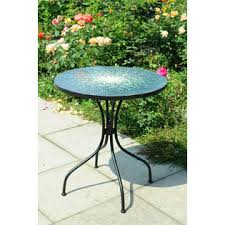 Outdoor Bistro Table Jaclyn Smith Reece Bistro Table In Green Mosaic Kmart