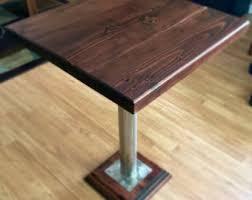 Industrial Bistro Table Bistro Table Etsy