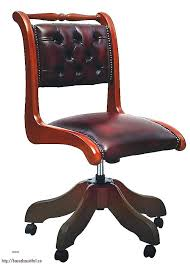 fauteuil de bureau en bois pivotant chaise de bureau en bois meetharry co