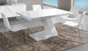 D Coratif Table A Manger Engageant Table Manger Blanche De Salle Design Laqu E Et Grise