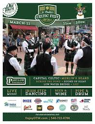 st paddy u0027s celtic fest old town winchester