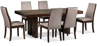 lena 7 piece dining room set cherry leon u0027s