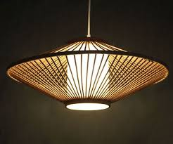 Bamboo Ceiling Light Creative Bamboo And Parchment Pendant L 110 240v One E27