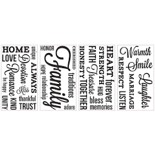 family heating and cooling garden city family quote peel and stick wall decals walmart com