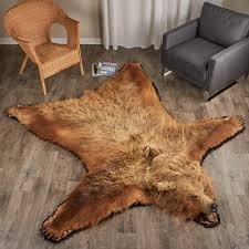 innovation grizzly bear rug lovely ideas bl cievi home