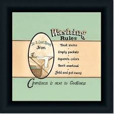 Laundry Room Decor Signs Washing Laundry Room Decor Sign By Spivey Framed