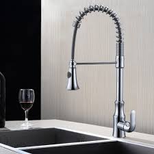 pull down spring faucet kitchen single handle high arc kitchen bar kes pull down spring faucet kitchen single handle high arc kitchen bar sink faucet single hole l6936blf