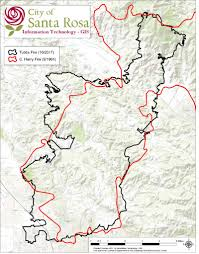 Sonoma California Map Fire Scorched Fountaingrove In Santa Rosa Focal Point Of Debate