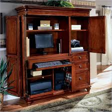 Office Hutch With Doors Computer Desk Armoire Style Med Art Home Design Posters