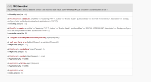 varchar date format php sqlstate 22007 invalid datetime format issue 173