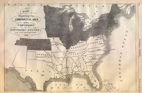 Southern States Of America Map by Map Of America At The Start Of The Civil War