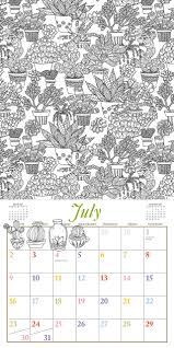 color your year wall calendar 2017 workman publishing