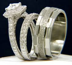 wedding rings in botswana 3pcs 925 silver cz stainless steel 316l engagement wedding bridal