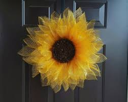 sunflower mesh wreath dahlia flower wreath deco mesh dahlia deco dahlia wreath