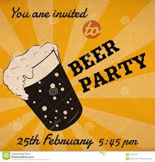 Event Invitation Card Vector Retro Beer Glass Invitation Card Stock Vector Image 51683734